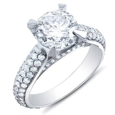 3.00 Ct. Round Brilliant Cut Lush Diamond  Engagement Ring H Color VS2 GIA Certified