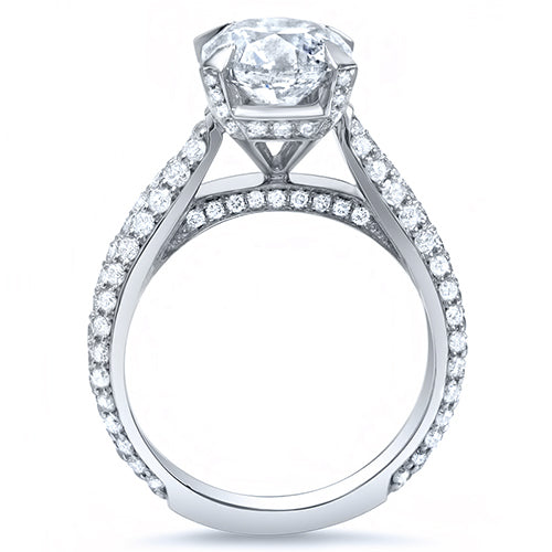 4.50 Ct. Round Brilliant Cut Lush Diamond  Engagement Ring J Color VS2 GIA Certified