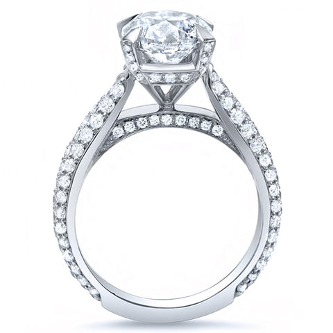 2.50 Ct. Round Brilliant Cut Lush Diamond  Engagement Ring F Color VS2 GIA Certified