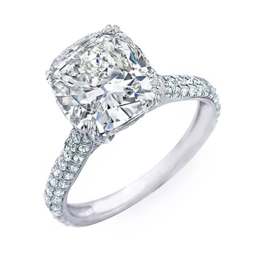 6.06 Ct. Cushion Cut Diamond Ring G, SI1