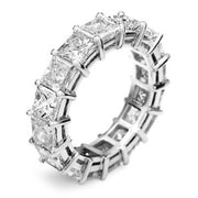 6.50 Ct. Princess Cut Diamond Eternity Ring
