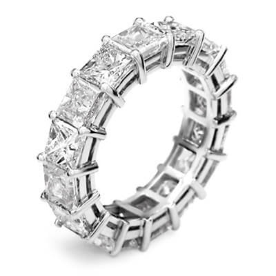 7.5 Ct. Princess Cut Diamond Eternity Ring