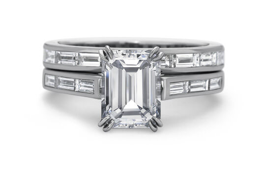 2.50 Ct. Emerald Cut Diamond Ring G, VVS2 (GIA Certified)