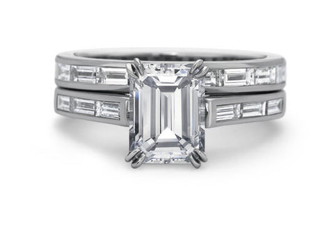 2.7 Ct. Emerald Cut Diamond Ring F, VVS2 (GIA Certified)
