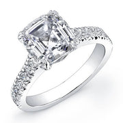1.90 Ct. Asscher Cut Diamond Engagement Ring H, VS2 (GIA Certified)