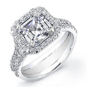4.39 Ct. Asscher Cut Diamond Engagement Ring G, VS1