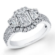3.04 Ct. Emerald Cut Diamond Engagement Ring H, VVS2 (GIA Certified)