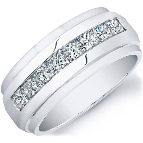 1.00 Ct. Men's Princess Cut Diamond Ring
