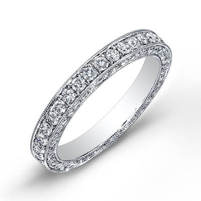 1.75 Ct. Round Cut Micro Pave Diamond Eternity Band