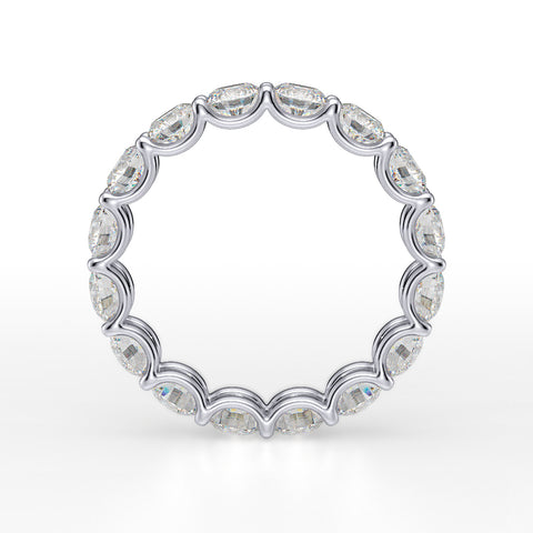 4.0 Ct.  U-Setting Round Brilliant Diamond Eternity Ring