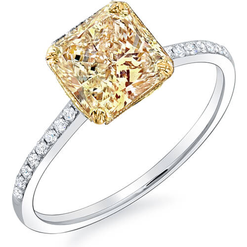 1.27 ct. Canary Fancy Yellow Radiant Cut Solitaire GIA, VS1