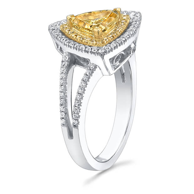 1.56 Ct. Canary Fancy Yellow Diamond Engagement Ring