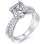 2.65 Ct. Asscher Cut Cross Over Split Shank Diamond Engagement Ring G,VVS2 GIA