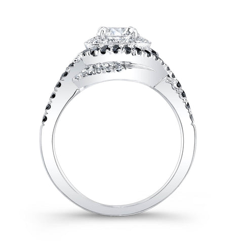 1.51 Ct. Round Cut Spiral Pave Diamond Engagement Ring F,VS2 GIA
