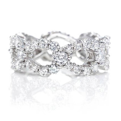 1.50 Ct. Round Cut Infinity Eternity Diamond Ring