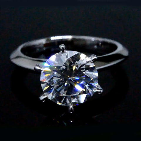 2.31 Ct. Round Brilliant Cut Diamond Solitaire Engagement Ring