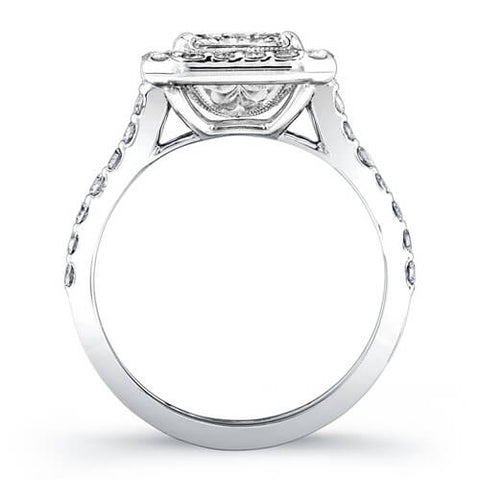 3.19 Ct. Radiant Cut Diamond Engagement Ring G, VVS2 (GIA Certified)