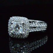 1.56 Ct. Halo Round Cut Diamond Engagement Ring G,SI1 GIA