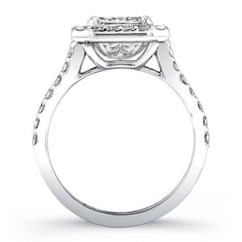 3.20 Ct. Princess Cut Diamond Engagement Ring H, SI1 (GIA Certified)