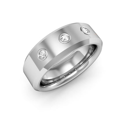 0.50 Ct. Round Cut Diamond Wedding Band for Men & Women