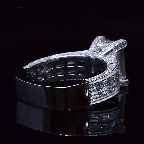 5.19 Ct. Emerald Cut Diamond Ring F,VVS1 GIA