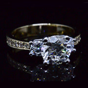 2.13 Ct. 3-Stone Round Brilliant Cut Diamond Ring