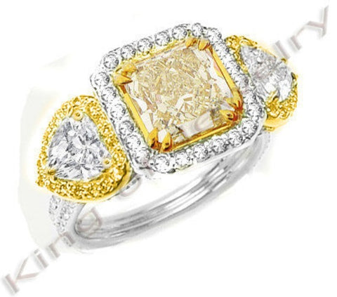 3.76 Ct. Canary Fancy Yellow Diamond Engagement Ring