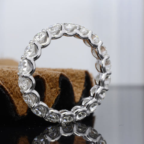 5.0 Ct. U-Setting Round Brilliant Diamond Eternity Ring Wedding Band G-H Color SI1 Clarity