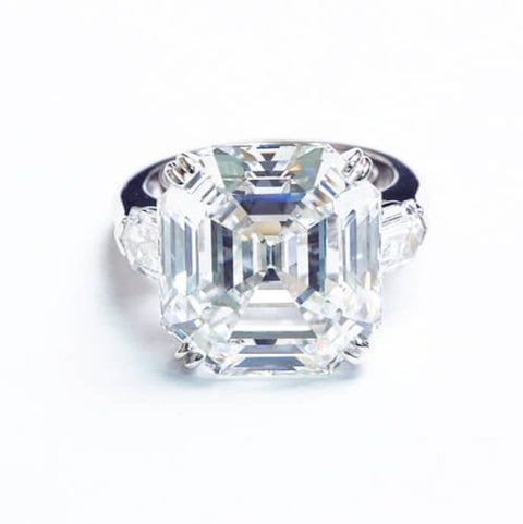 2.30 Ct. 3 Stone Asscher Cut & Bullet Cut Diamond Ring F,VS2 GIA Certified