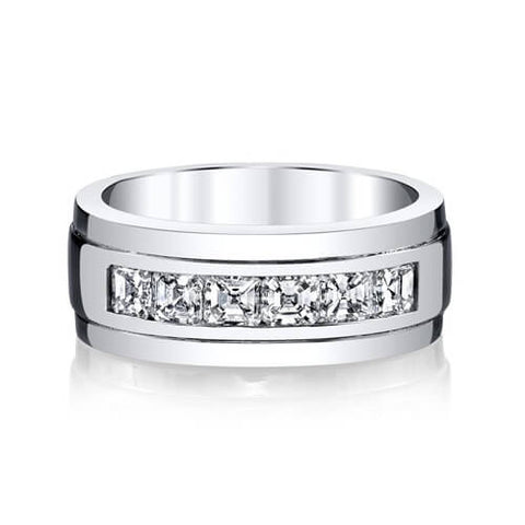 Men's Asscher Cut Diamond Ring