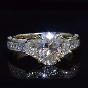 3.83 Ct. Oval Cut Diamond Engagement Ring