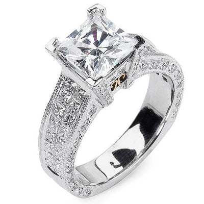 4.69 Ct. Princess Cut Diamond Engagement Ring I,VS1
