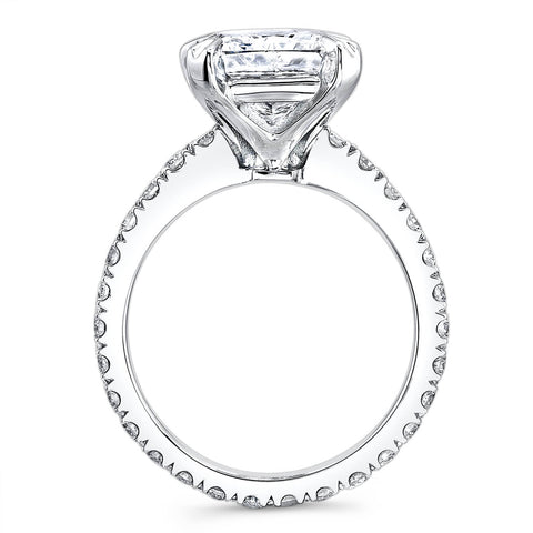 3.90 Ct. Radiant Cut Diamond Solitaire Eternity Engagement Ring H,VS1 GIA