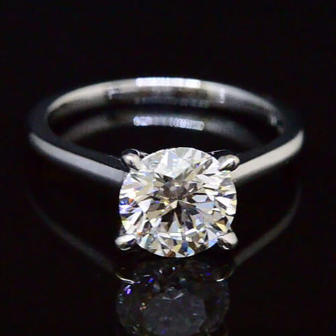 1.51 Ct. Round Brilliant Cut Diamond Solitaire Engagement Ring