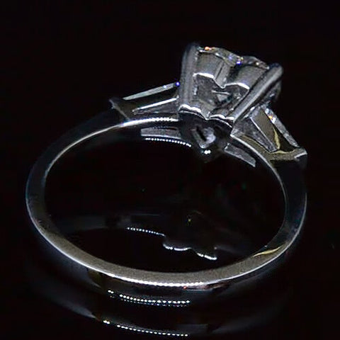 1.83 Ct. Heart & Baguette Cut Diamond Engagement Ring