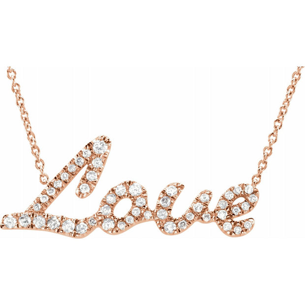 Love Diamond Pendant Necklace