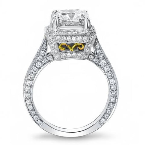 4.52 Ct. Princess Cut Diamond Engagement Ring H, SI1 (GIA Certified)