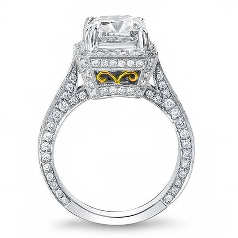 4.51 Ct. Princess Cut Diamond Engagement Ring F, VS2 (GIA Certified)