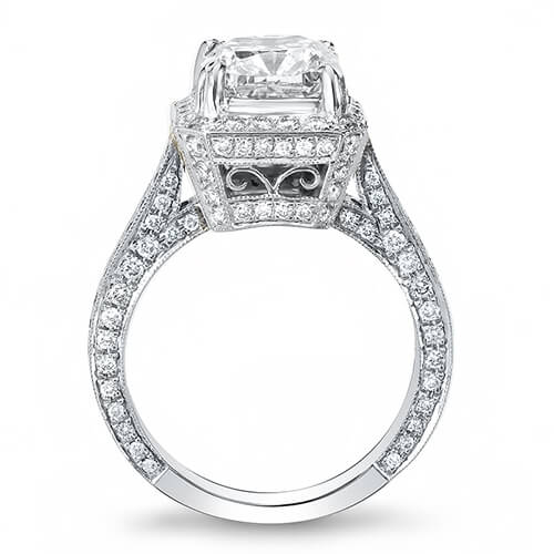 4.00 Ct. Princess Cut Diamond Engagement Ring I, VS1 (GIA Certified)