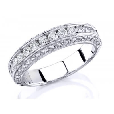 1.20 Ct. Designer Round Cut Diamond Wedding Band