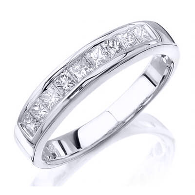 1.35 Ct. Princess Cut Diamond Wedding Ring
