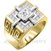 1.58 Ct. Men's Princess Cut Diamond Ring