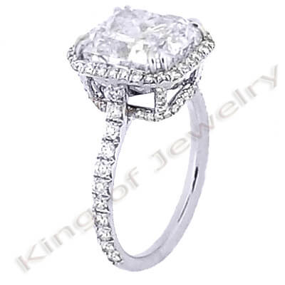 2.7 Ct. Asscher Cut Diamond Engagement Ring (GIA Certified)
