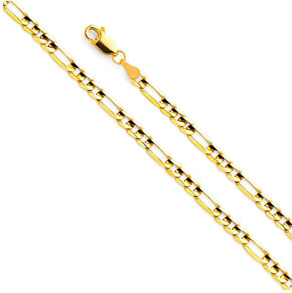 14K Yellow Gold Figaro Chain 4mm