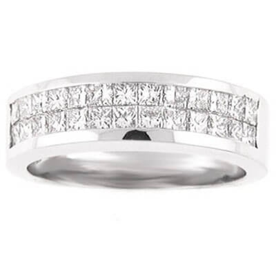 2.25 Ct. Lady's Princess Cut Diamond Wedding Band