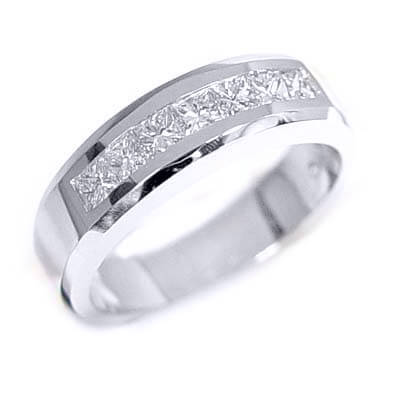 1.00 Ct. Men's Diamond Wedding Band Channel Set