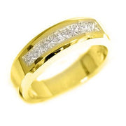 1.40 Ct. Princess Cut Diamond Wedding Ring Band G Color VS1-VS2 Clarity