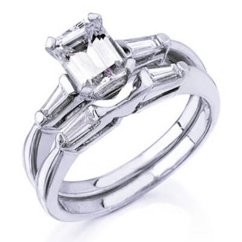 1.20 Ct. Emerald Cut Diamond Bridal Set (GIA Certified)