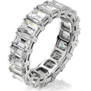4.00 Ct. Emerald Cut Diamond Eternity Ring
