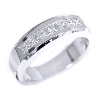 1.25 Ct. Men's Diamond Wedding Ring Channel Set